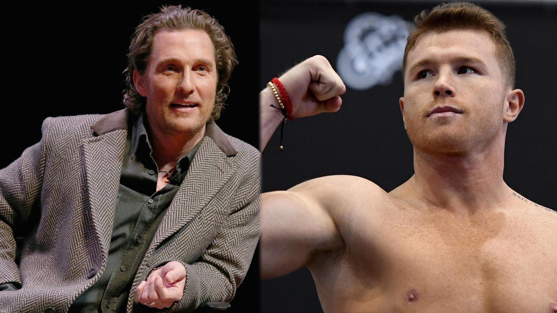 Exclusiva: Matthew McConaughey y Canelo Álvarez llevan este fuerte ...