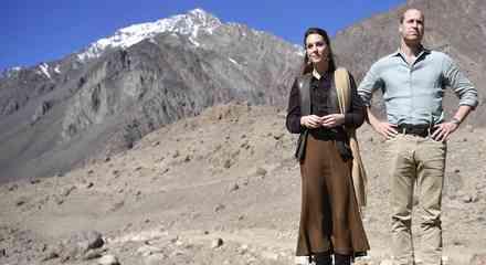 Kate Middleton y Prince William visitan el glaciar Chiatibo en la cordillera del Hindu Kush