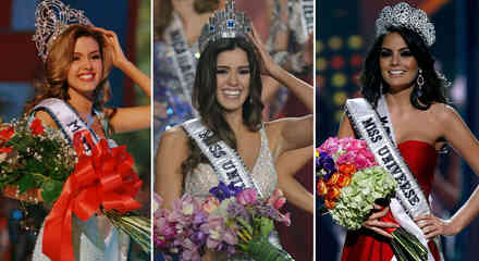 Collage latinas en Miss Universo