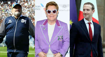 Maradona, Elton John y Mark Zuckerberg