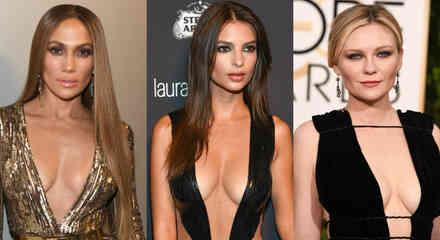 Jennifer Lopez, Kirsten Dunst y Emily Ratajkowski, algunas de las actrices que apostaron por el escote