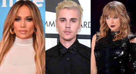 Jennifer Lopez, Justin Bieber y Taylor Swift