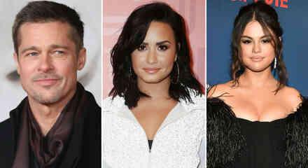 Brad Pitt, Demi Lovato y Selena Gomez