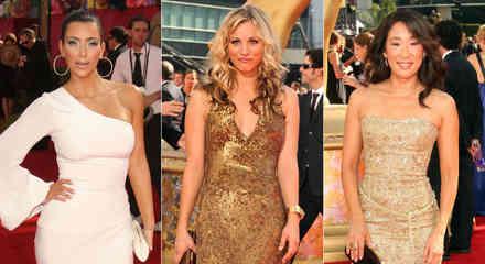 Kim Kardashian, Kaley Cuoco y Sandra Oh en los Emmy Awards 2009