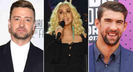 Justin Timberlake, Cher y Michael Phelps