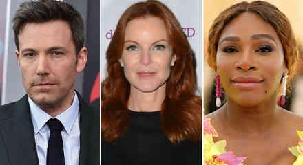 Ben Affleck, Marcia Cross y Serena Williams