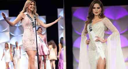 Miss Puerto Rico y Miss México en Miss Universo 2019