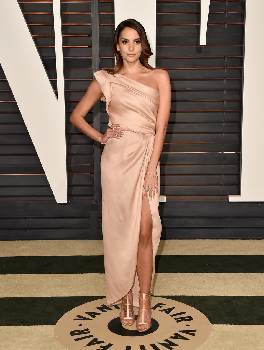 Gensis Rodriguez en la fiesta de Vanity Fair para los premios Oscar 2015.