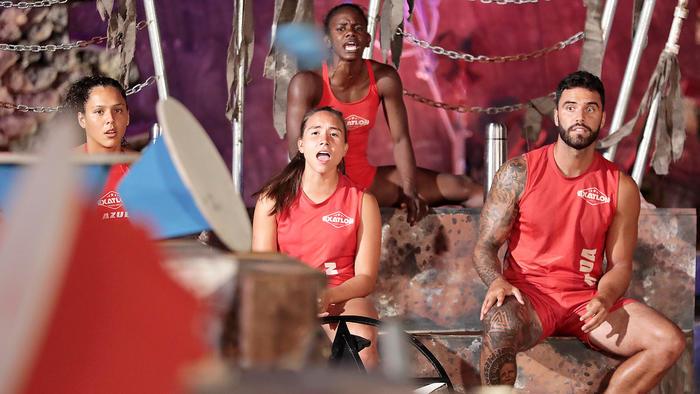 Alejandra, Julyn, Yamilet y Lozada con cara de sorpresa