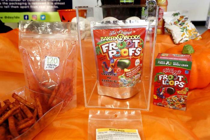 Golosinas de marihuana que pueden confundirse con botanas y dulces regulares.