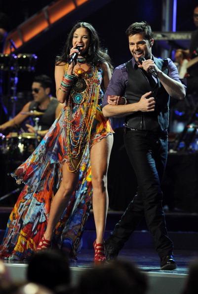 Ricky Martin y Natalia Jiménez