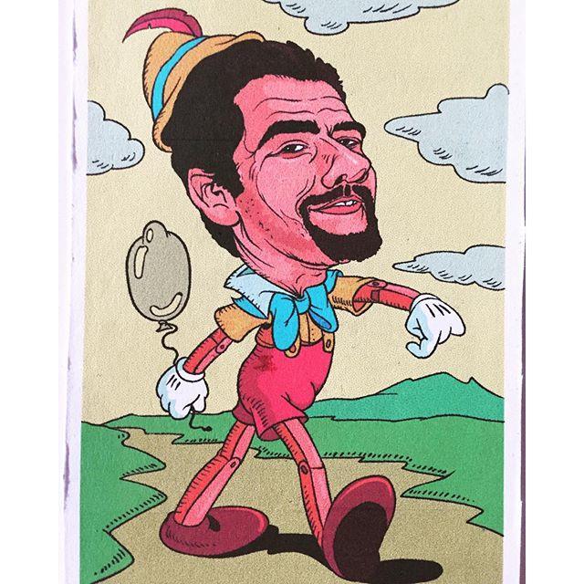 Eduardo Videgaray en dibujo de Pinocho