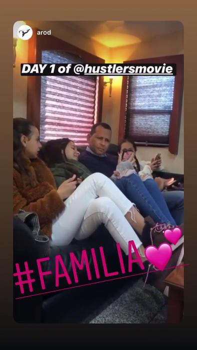 Alex Rodriguez con sus hijas y la de Jennifer Lopez