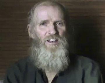 El estadounidense Kevin King, secuestrado por los insurgentes en Afganistán en agosto de 2016.