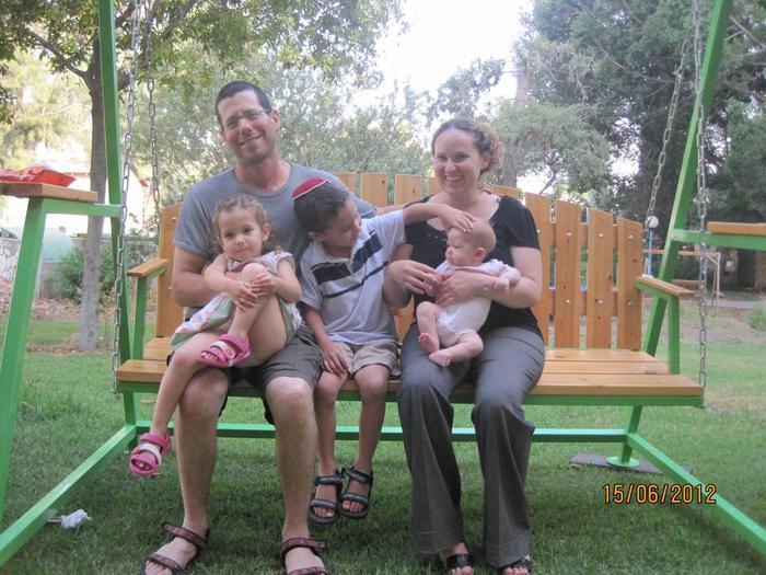 Sarit Fishbaine y su familia
