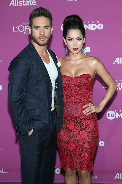 Carmen Villalobos and Sebastian Caicedo at the 2015 Premios Tu Mundo