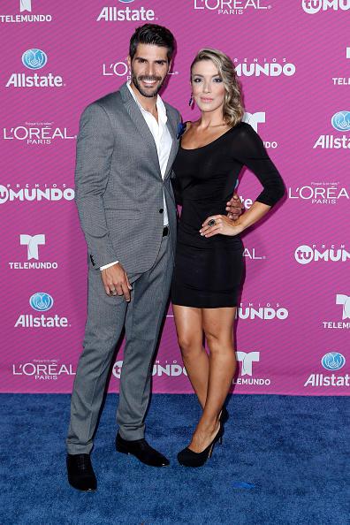 Juan Pablo Llano and Catalina Gomez at Telemundo's Premios Tu Mundo Awards 2015