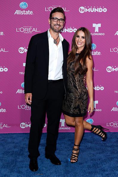 Catherine Siachoque and Miguel Varoni at Telemundo's Premios Tu Mundo Awards 2015