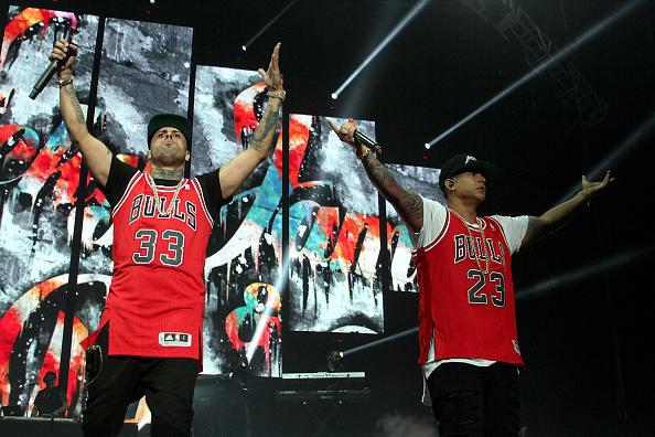 Nicky Jam en concierto con Daddy Yankee