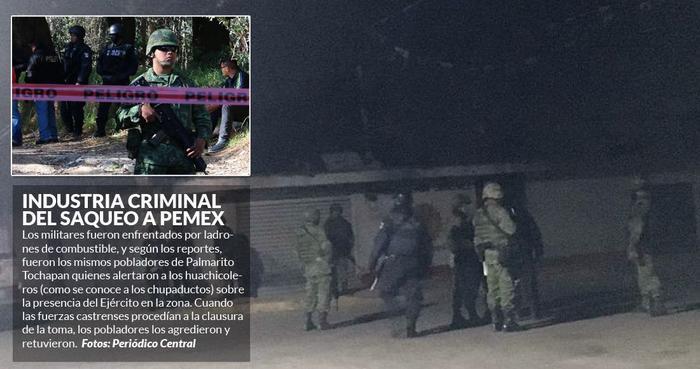 """Cuatro militares y seis presuntos """"chupaductos"""" mueren en enfrentamientos de Puebla; PGR investiga"""