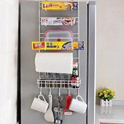 Organizador ahorrador de espacio para colgar en el refrigerador