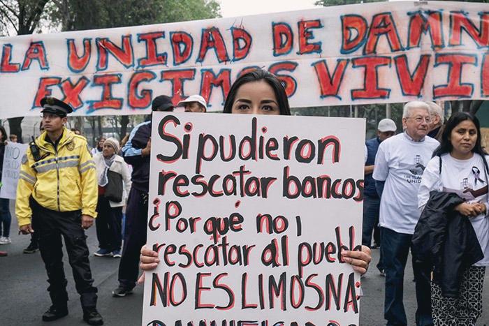 """de los inmuebles no están demolidos y eso es un riesgo para la comunidad. Para todos"""", afirma Vania Salgado Hernández, damnificada del terremoto del 19 de septiembre de 2017 y activista de la iniciativa Nosotrxs"""