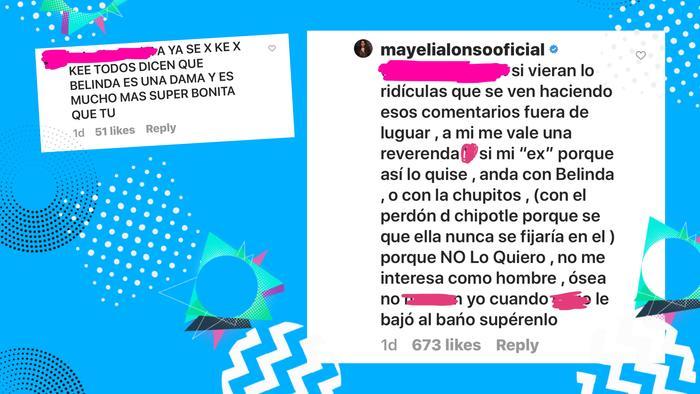 Mayeli Alonso reacción