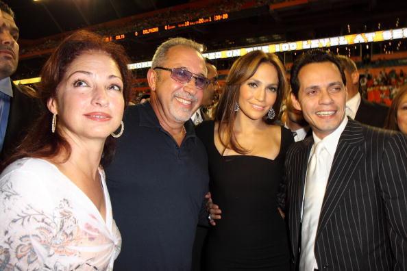 Marc Anthony, Jlo, Gloria Estefan y Emilio Estefan