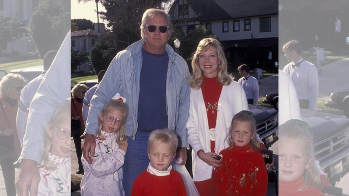 Ron Ely y su familia en 1992