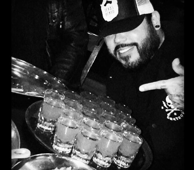 Ab Quintanilla tequila shots