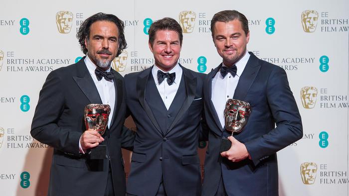 Tom Cruise irreconocible durante los premios BAFTA 2016