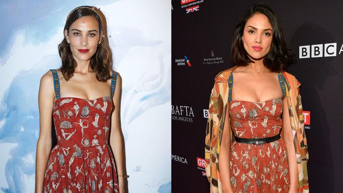 Alexa Chung y Eiza González usando el mismo vestido