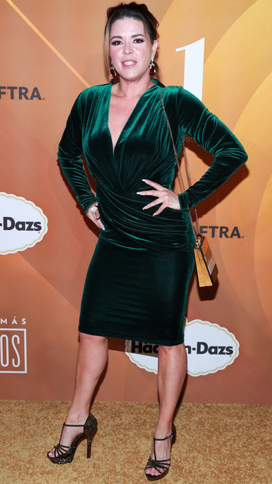 Alicia Machado en la fiesta de los 50 más bellos de People en Español