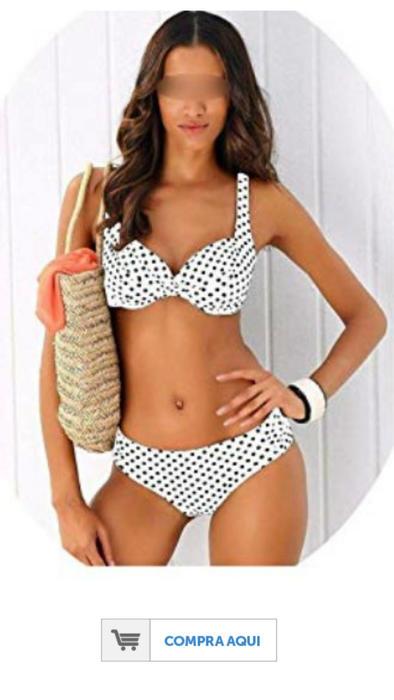 Modelo con bikini a lunares