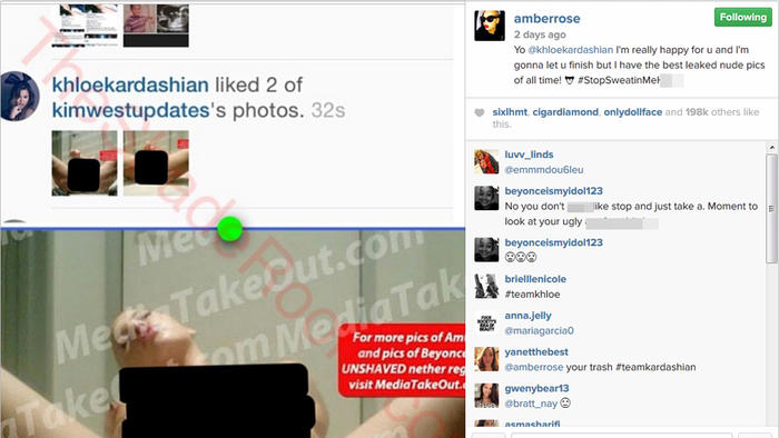 Amber Rose desnuda en Instagram