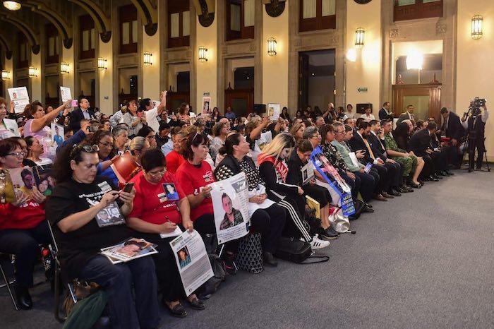 El evento realizado en Palacio Nacional fue oficialmente un informe de trabajo al Sistema Nacional de Búsqueda.