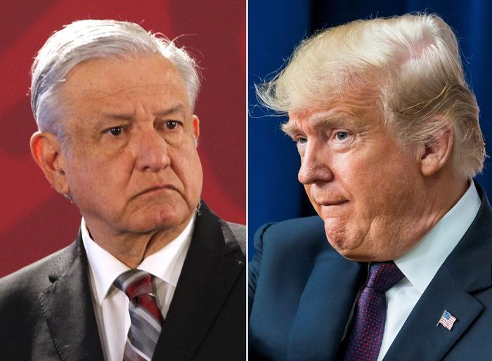 El presidente mexicano López Obrador contradice sus acciones sobre los migrantes al no oponerse a las políticas del presidente Trump, según activistas. Archivo.