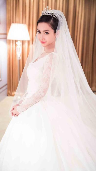 Angelababy vestida de novia