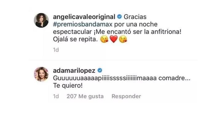 Angelica Vale y Adamari en instagram
