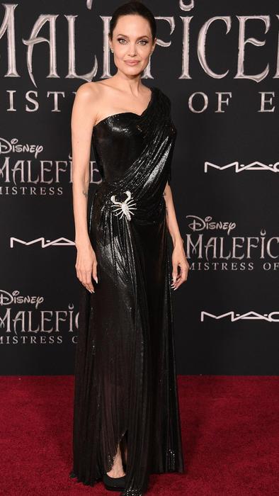 Angelina Jolie en la red carpet de Maleficient