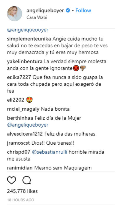 Comentarios a Angelique Boyer