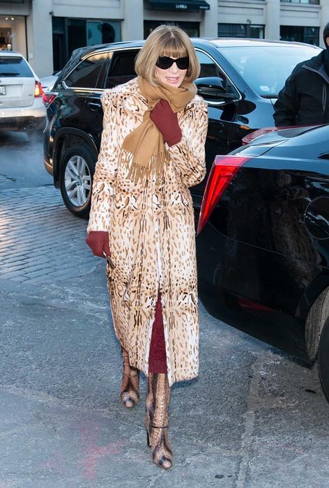 Anna Wintour en la semana de la moda de Nueva York