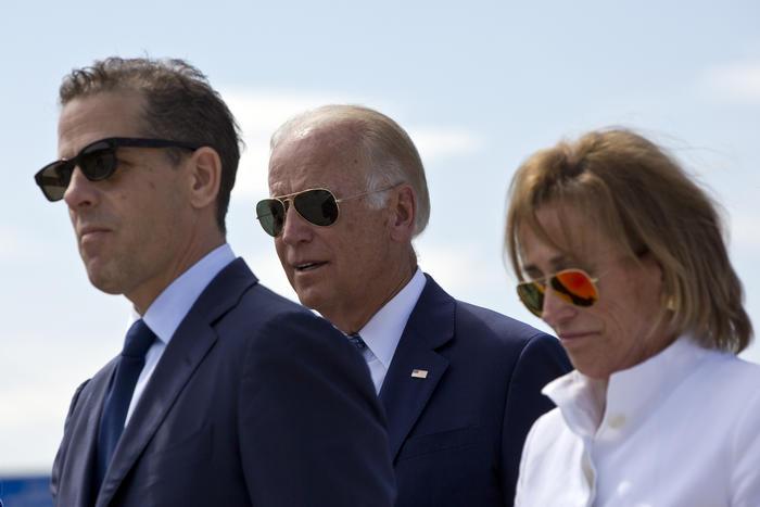 Joe Biden, Hunter Biden y Valerie Biden.