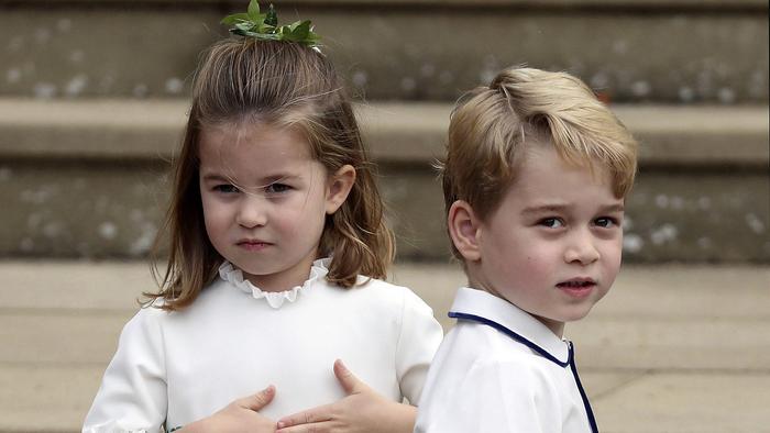 El princípe George y la princesa Charlotte se robaron la atención de los asistentes.
