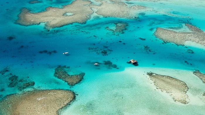 Vista aérea de las islas Fiji