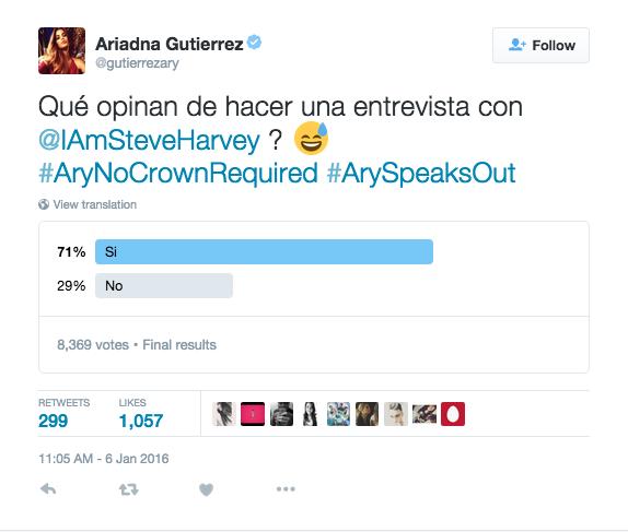 Tuit de Ariadna Gutiérrez