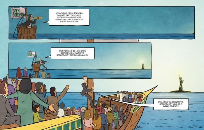 En su novela gráfica, el economista Bryan Caplan delinea las contribuciones de los inmigrantes y desbanca los estereotipos contra los inmigrantes