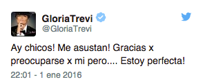 Gloria Trevi Twitter