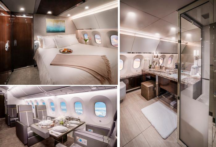 Vistas del interior del avión presidencial