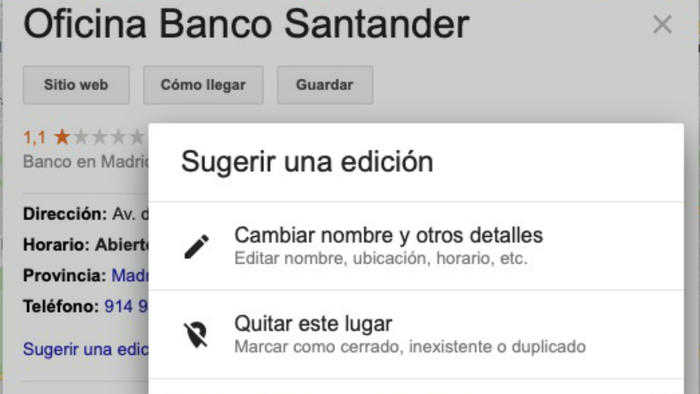 Datos en Google Maps